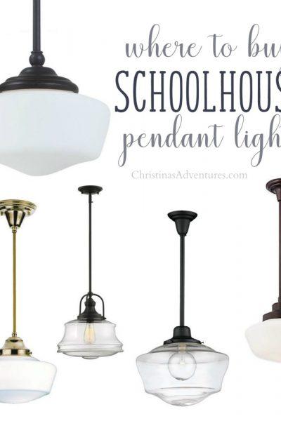 Where to buy schoolhouse pendant lights