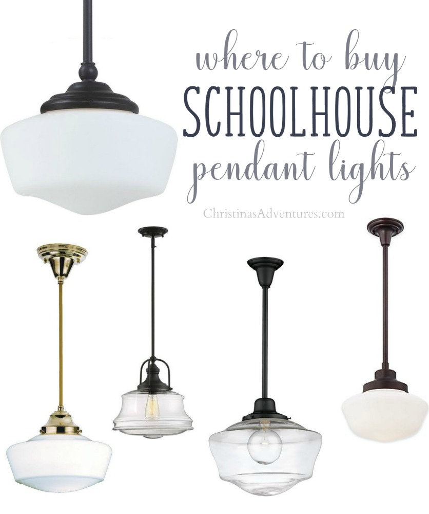 Where to buy schoolhouse pendant lights christinas adventures mozeypictures Gallery