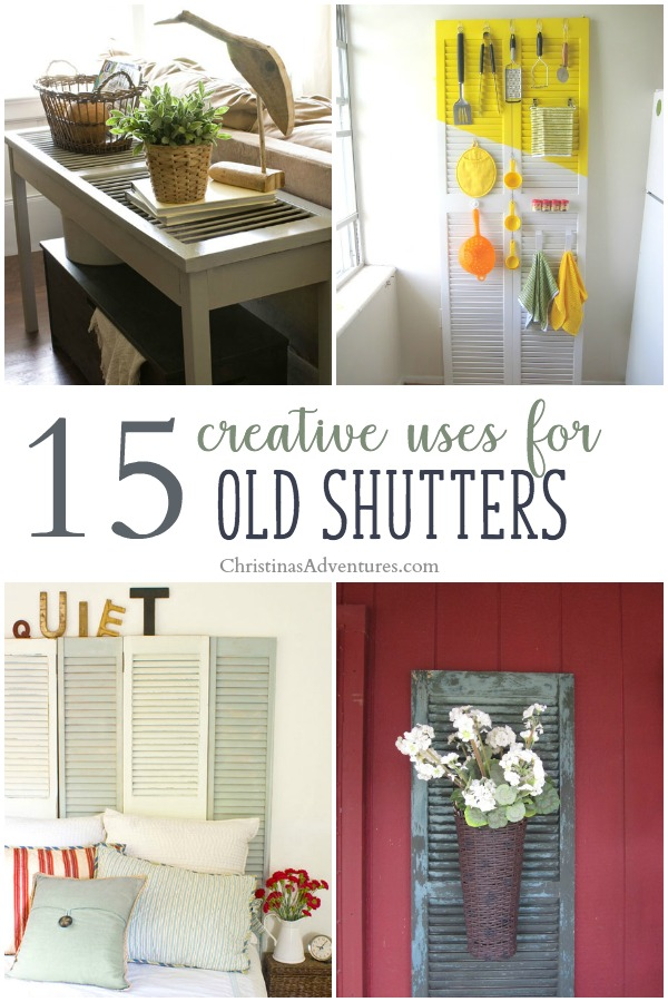 Creative uses for old shutters