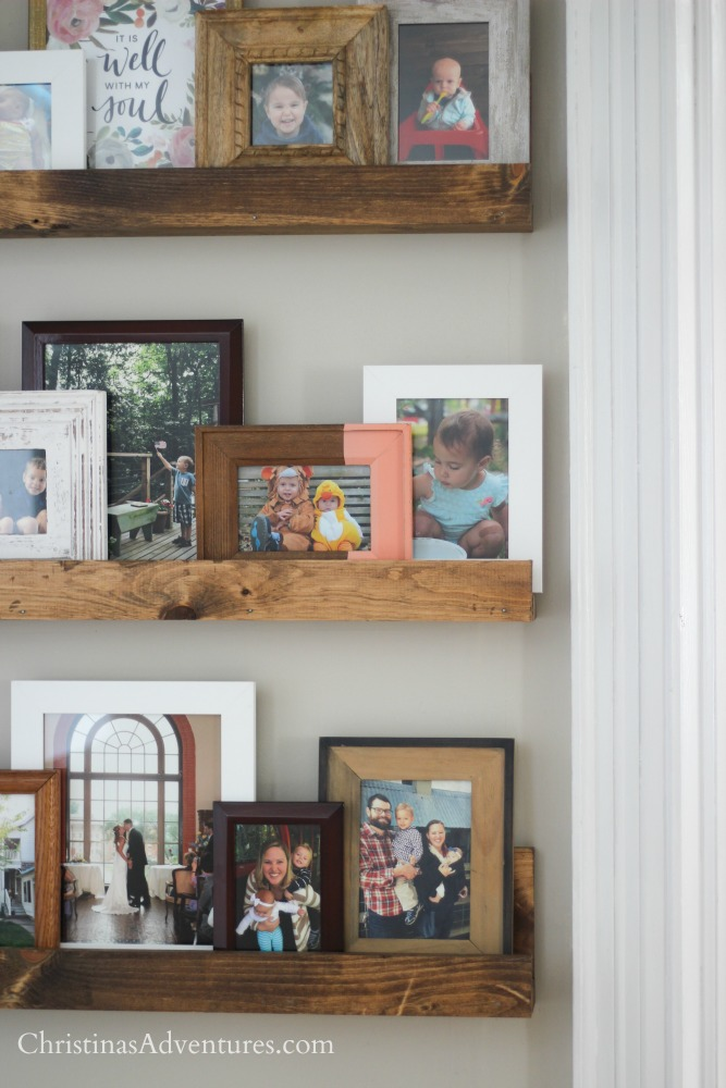 DIY picture frame shelves