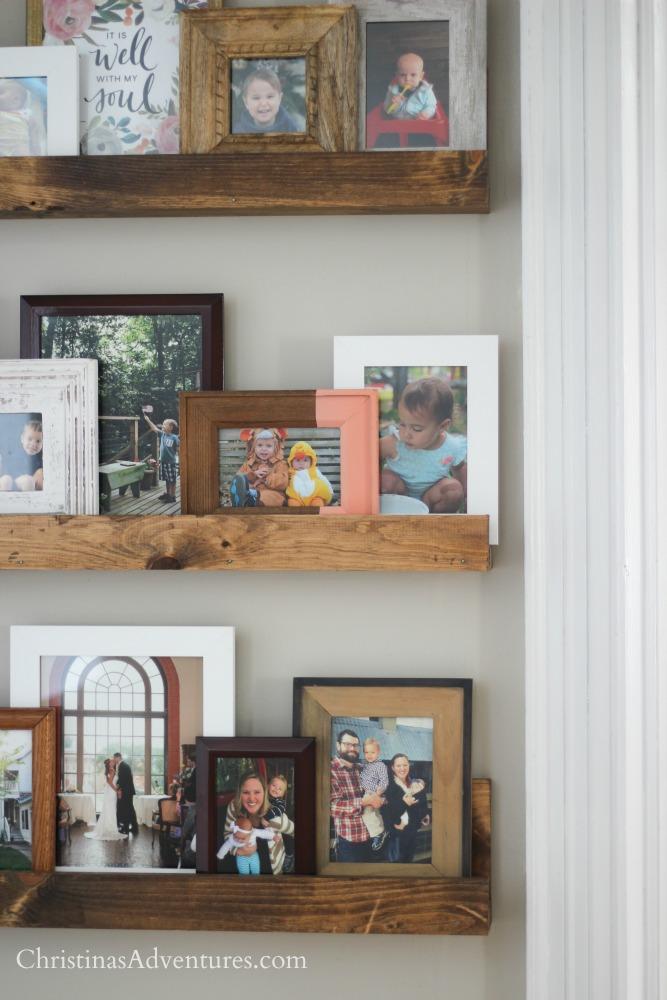DIY picture frame shelves