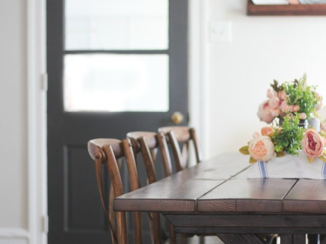 Dining refresh: our painted interior door