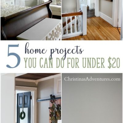 5 easy home improvement projects on a small budget (under $20!)