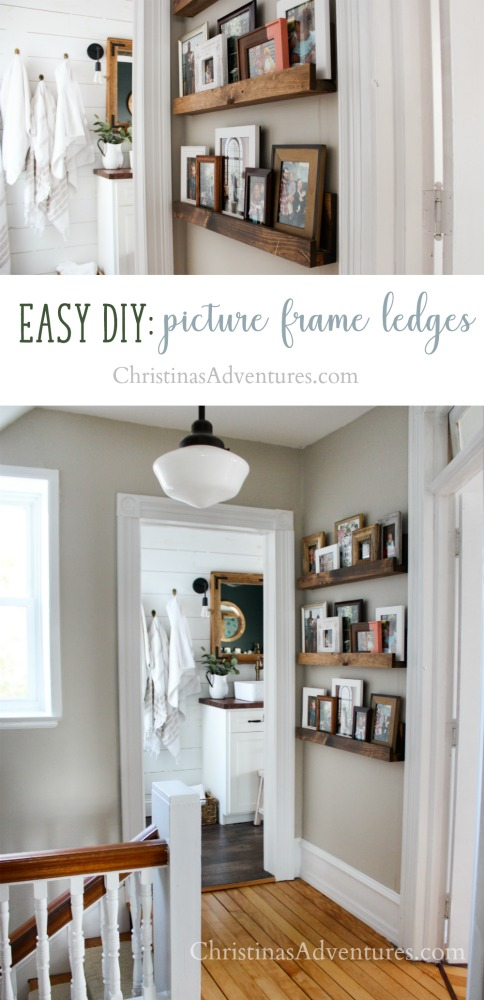 Easy DIY picture frame ledge tutorial