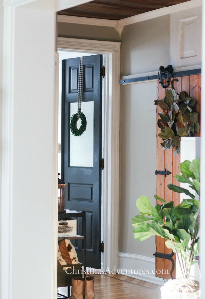 dark painted interior doors wrought iron by benjamin moore