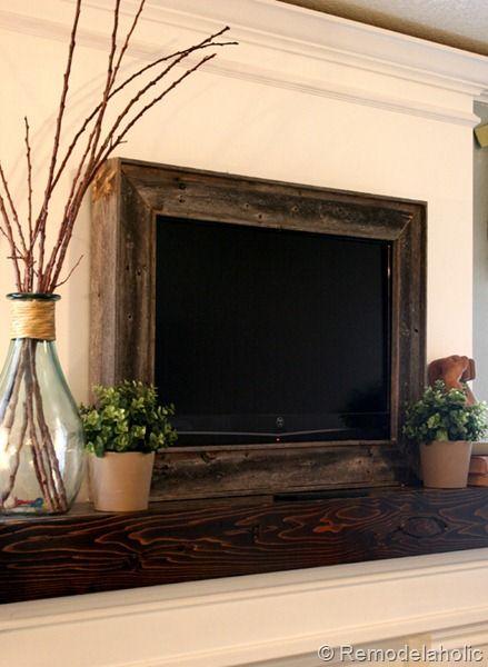 DIY wood frame around a TV