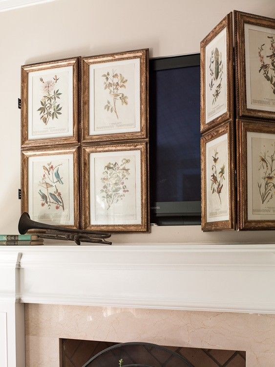 DIY picture frame screen to cover a TV