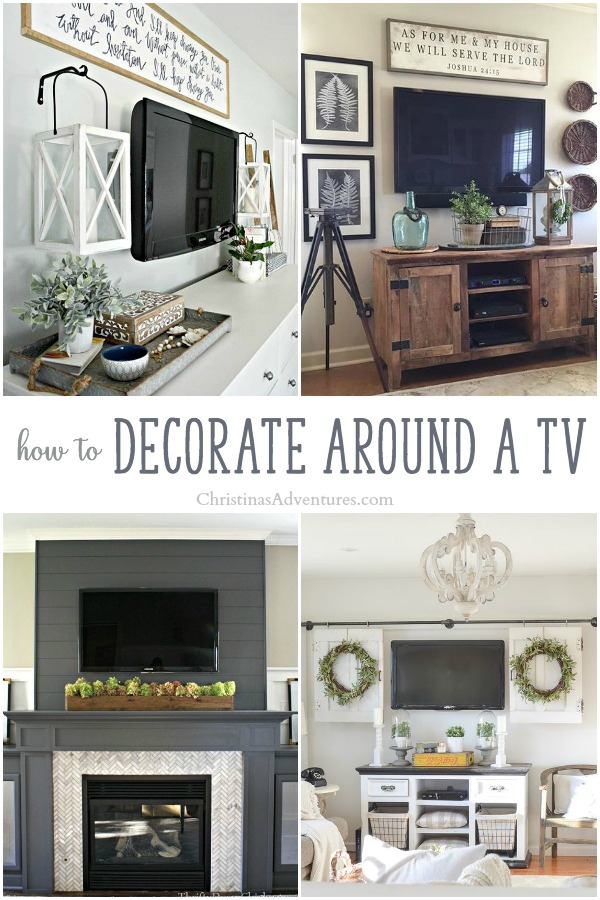 Creative ideas to decorate around a TV