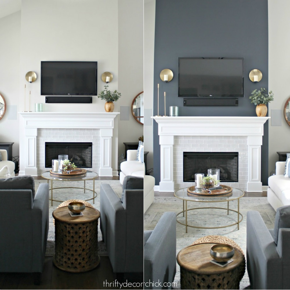 The difference between a TV on a white wall versus a TV on a dark gray wall
