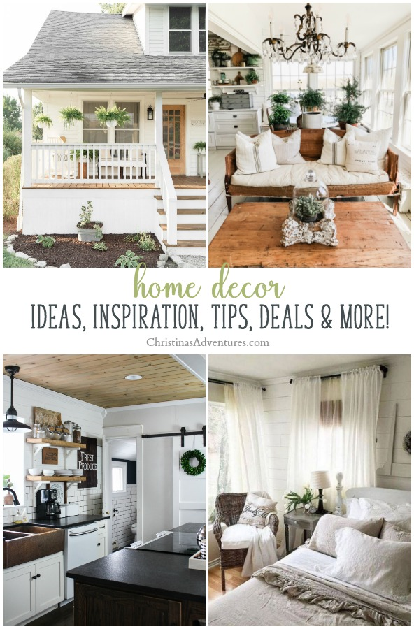 All of the best home decor ideas, inspiration, decorating tips, farmhouse home decor deals, and so much more!