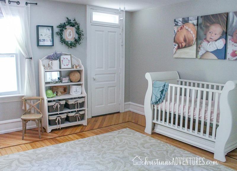 nursery with gray walls