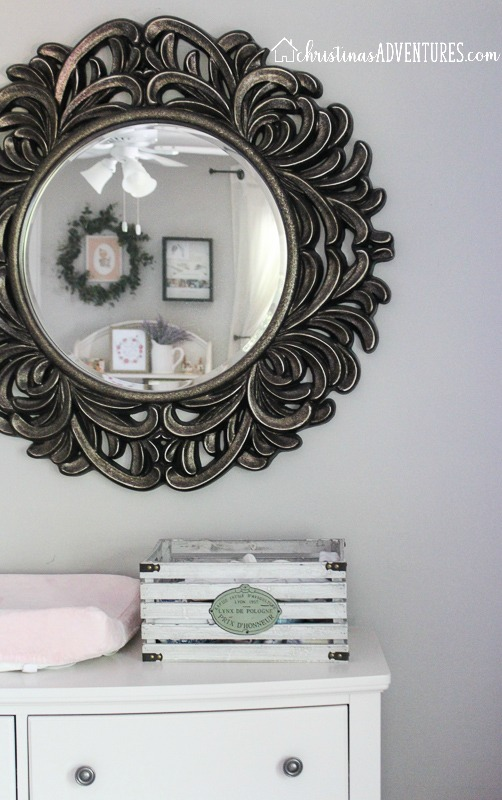statement mirror in nursery