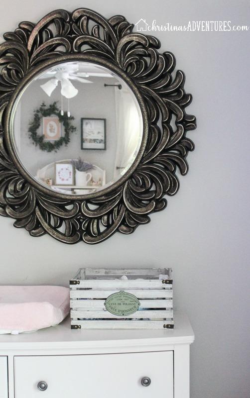statement mirror in nursery
