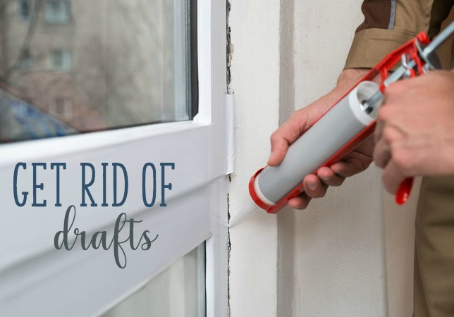 get rid of drafts with caulking