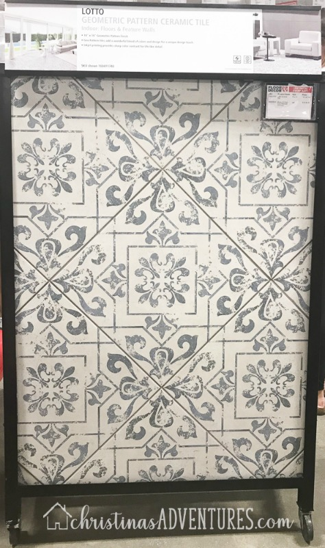 lotto patterned tile floor & decor