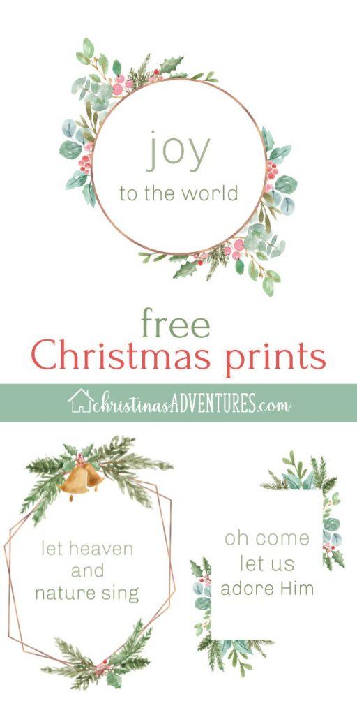 free simple Christmas prints