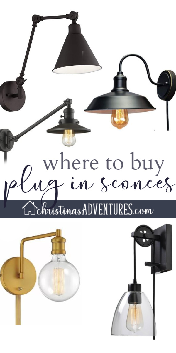 Where To Buy Plug In Wall Sconces Christina Maria Blog