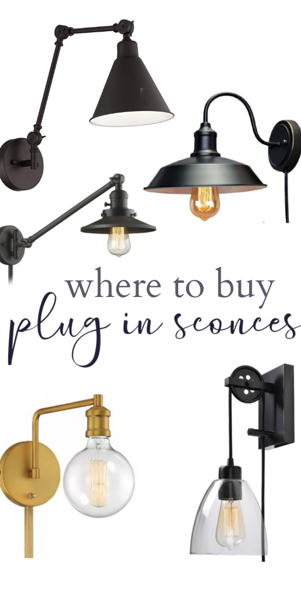Where to buy plug in wall sconces