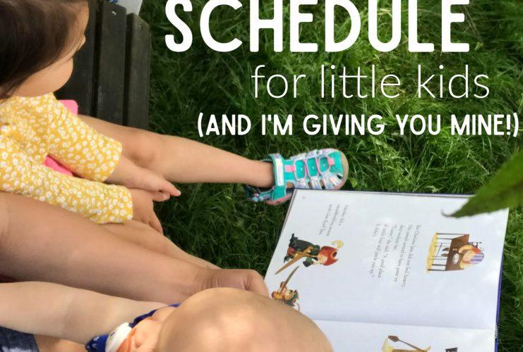 Summer schedule for preschoolers