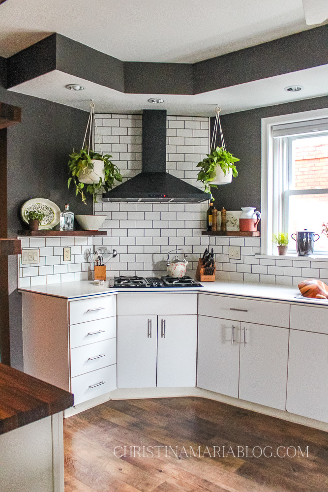 white subway tile kitchen white cabinet and dark gray paint color jabberwocky