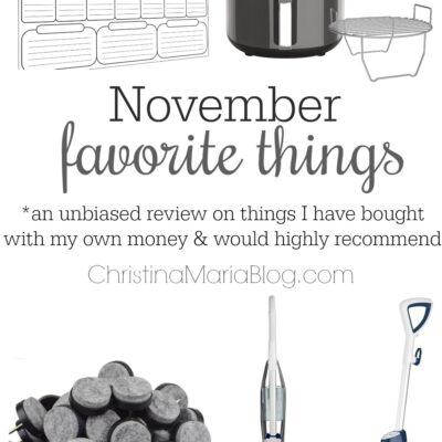 Favorite things: November