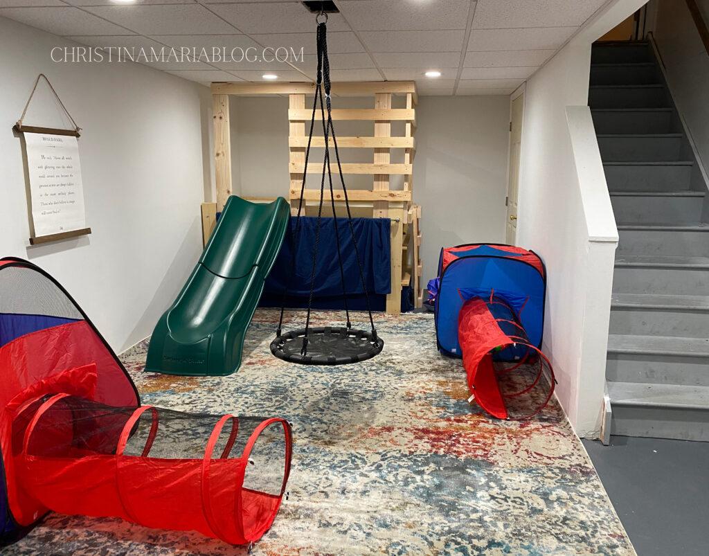 gross motor play basement
