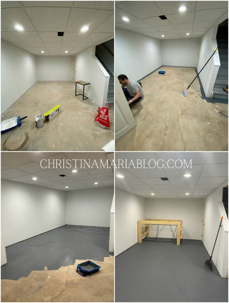 painted basement floors