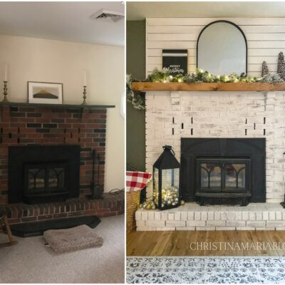 Fireplace makeover – all the details!