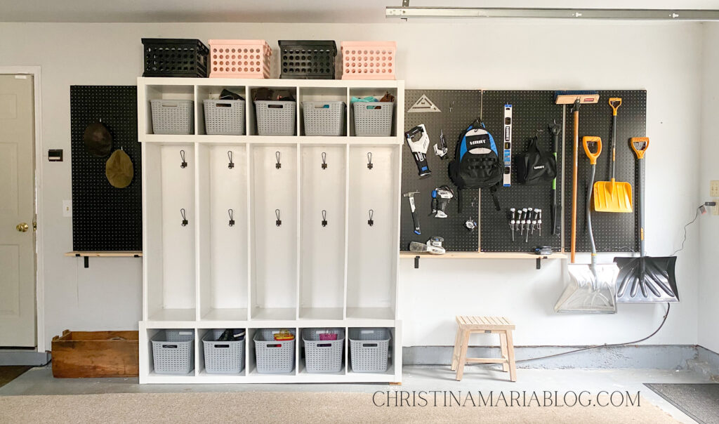 Garage organization idea with pegboard