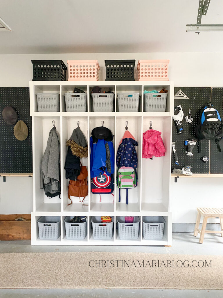 DIY garage storage organization system