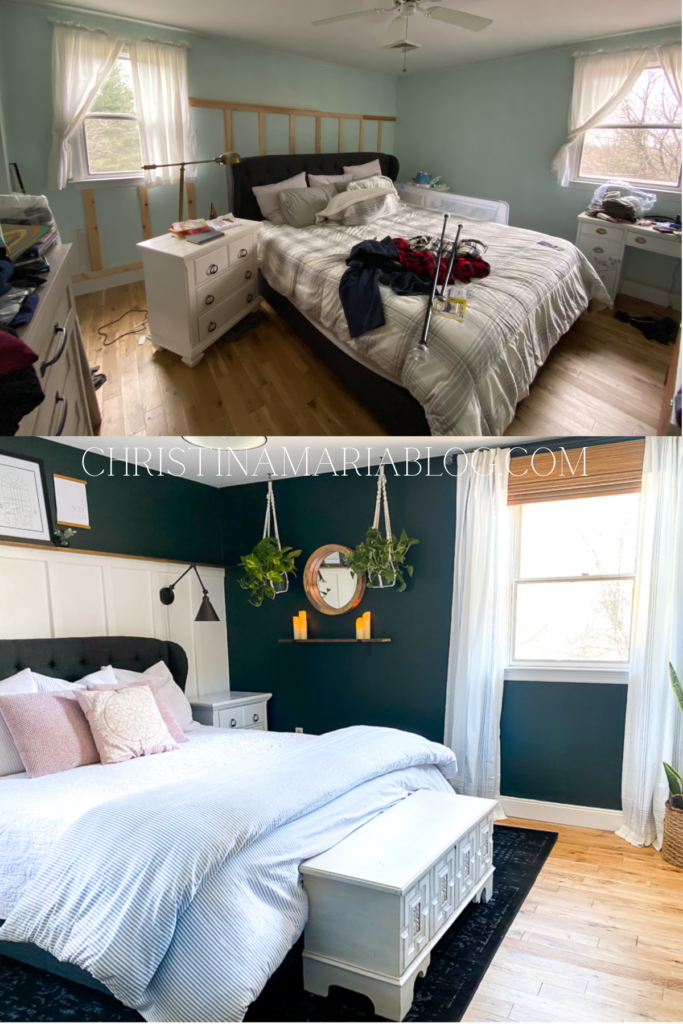 peaceful master bedroom makeover