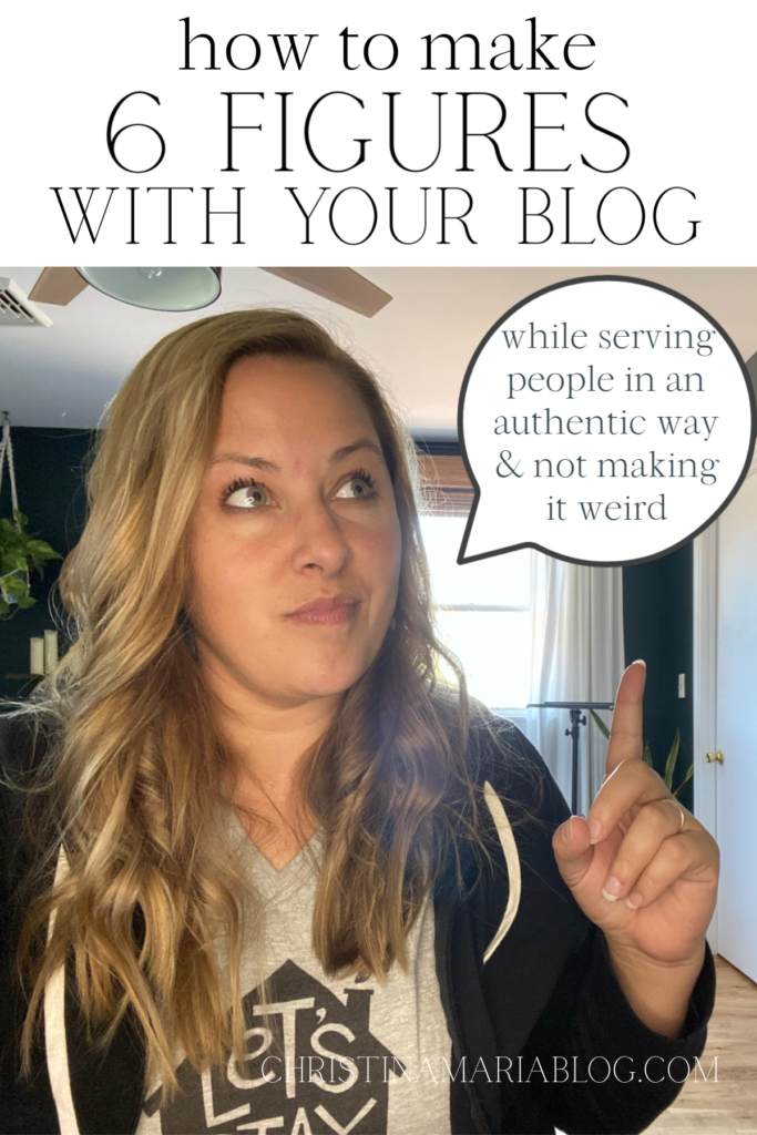 how to make money blogging without making it weird