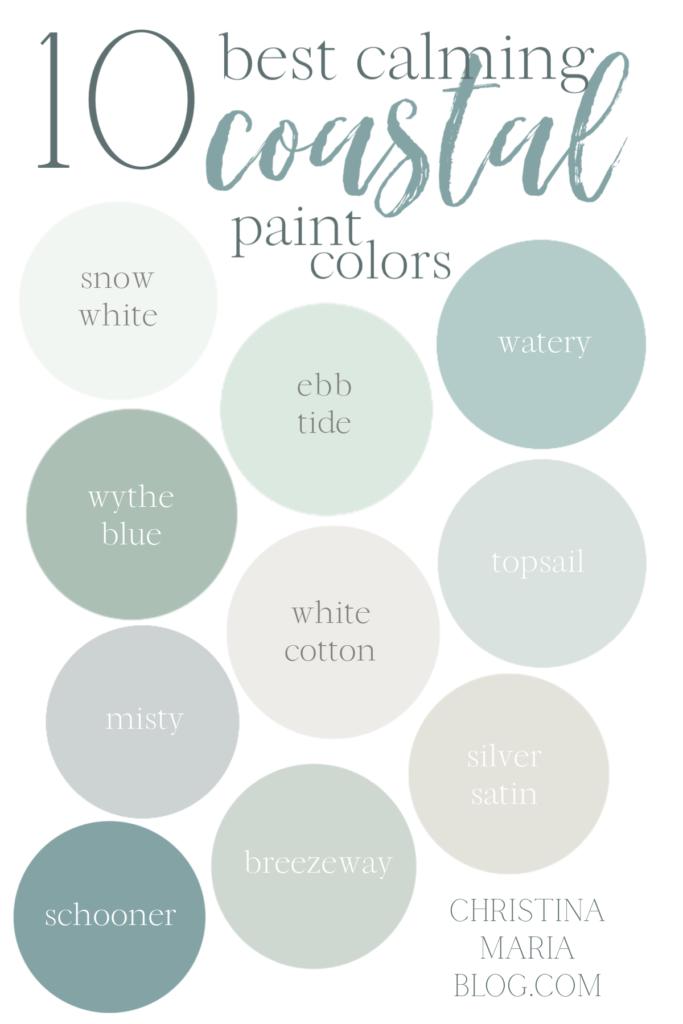 coastal style paint colors