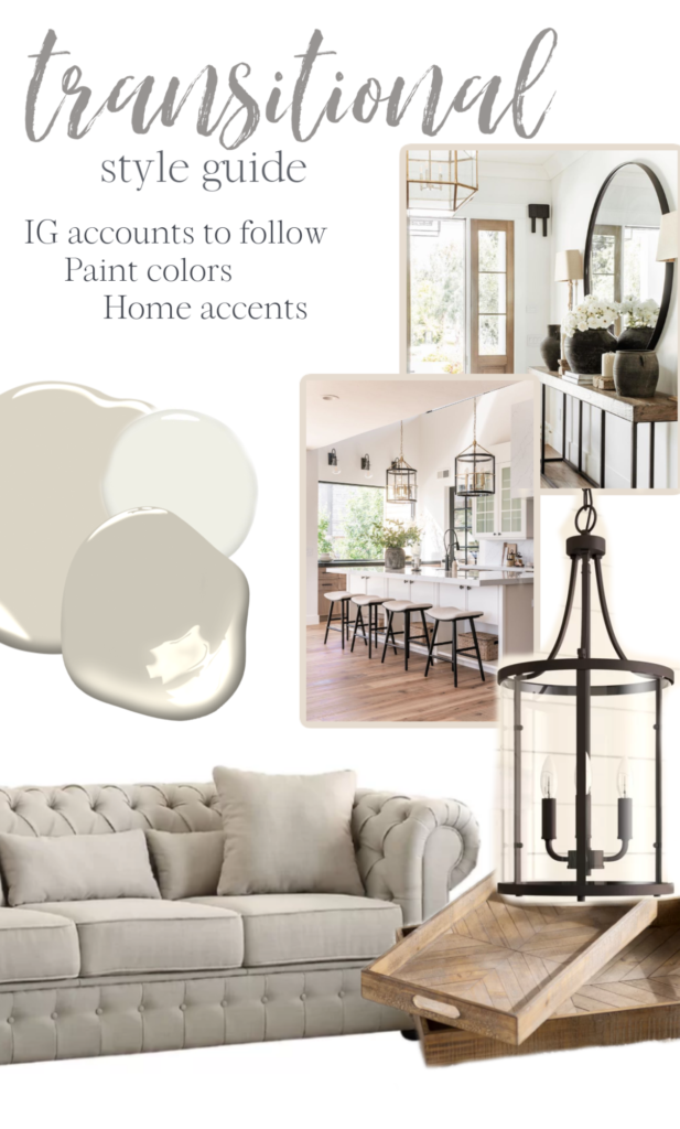 transitional design style guide