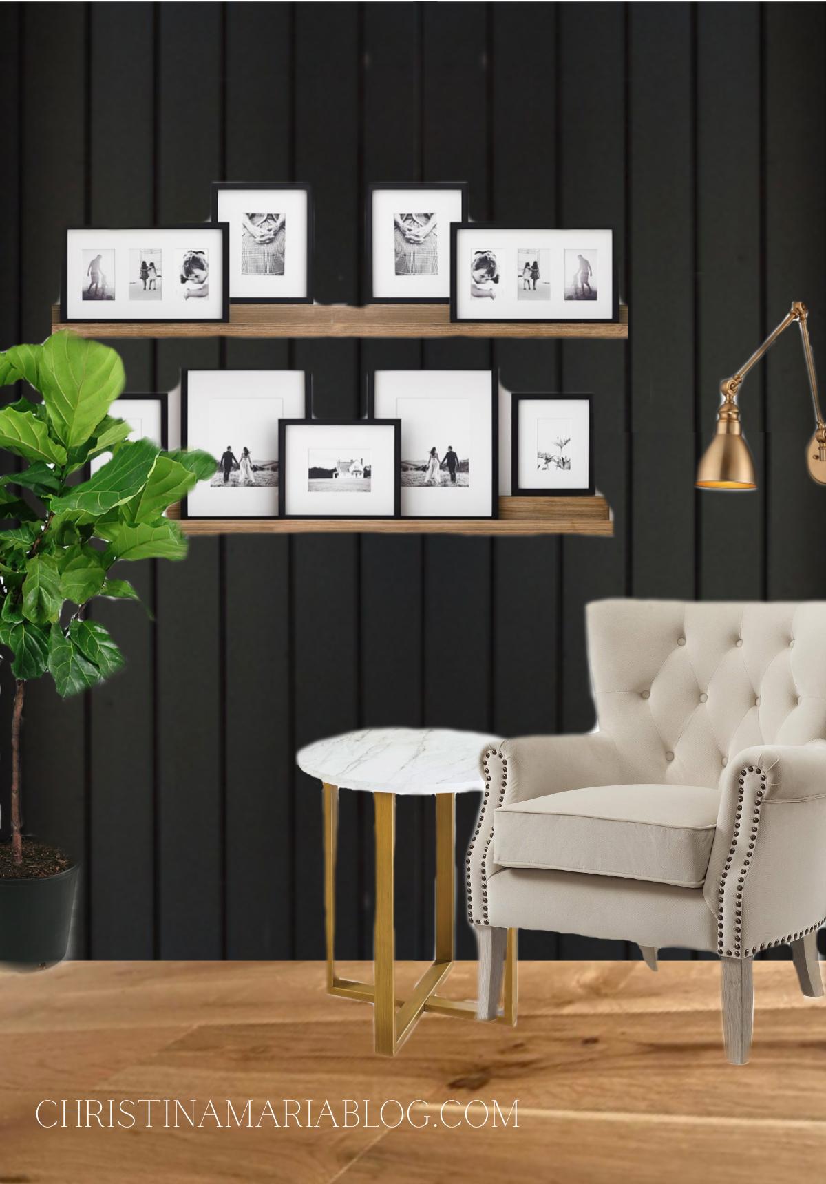 Family Room Design Plan & Mood Board