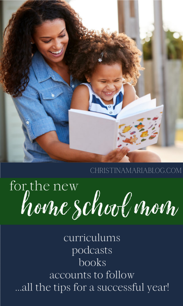 resources for a new home school mom
