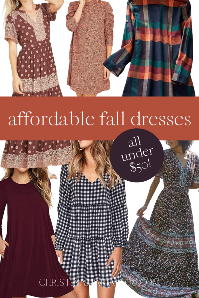 affordable fall dresses under $50