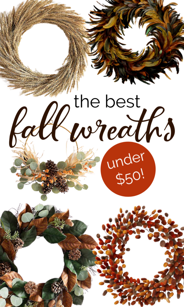 the best fall wreaths under 50 dollars
