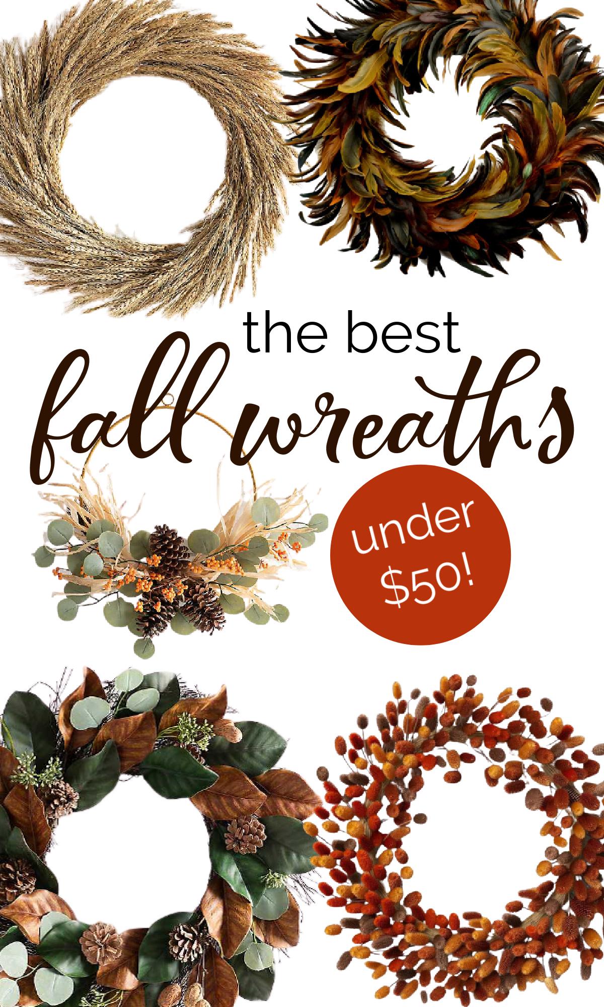 Fall wreaths under $50