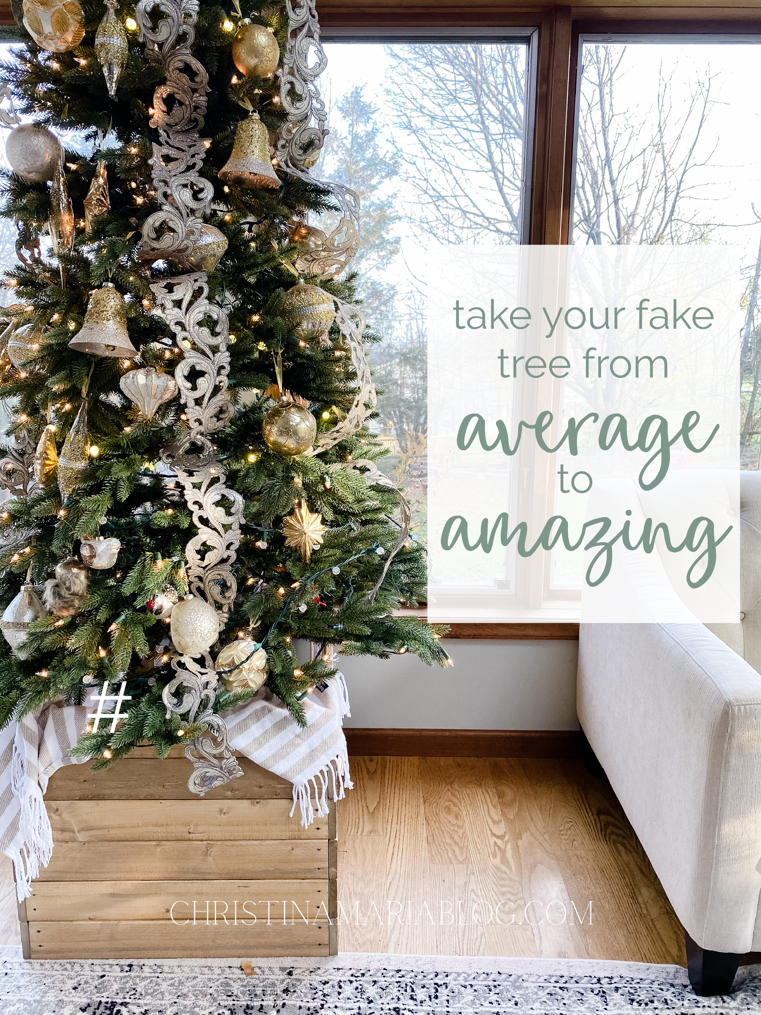 How to make a fake tree look amazing