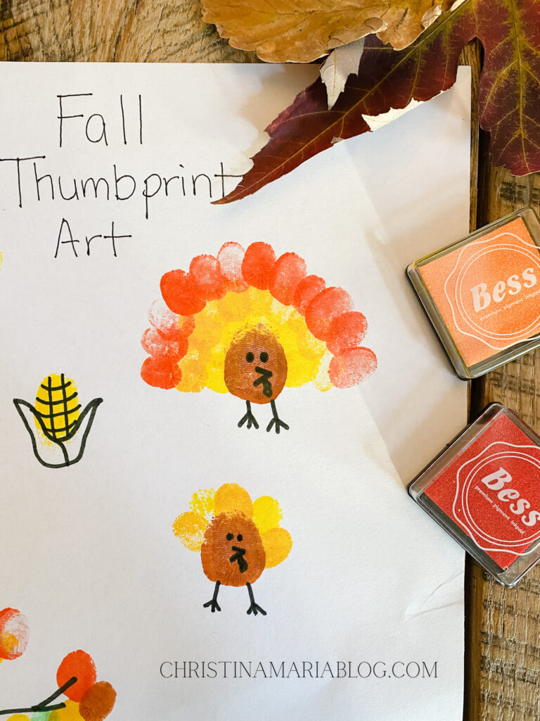 turkey activity thumbprint