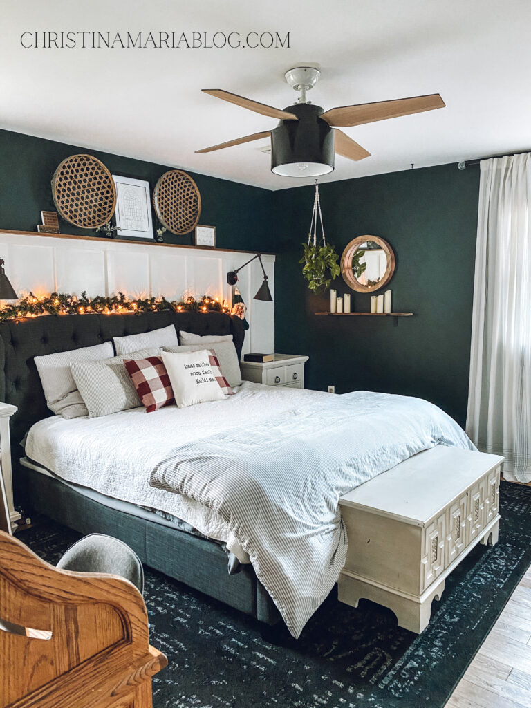 Christmas house tour bedroom
