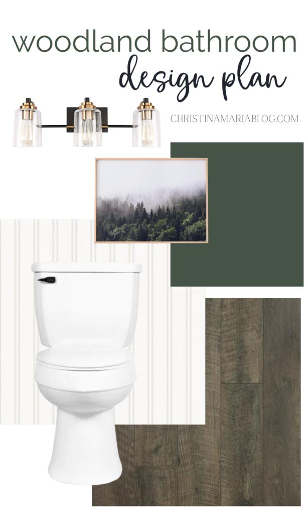 woodland bathroom design