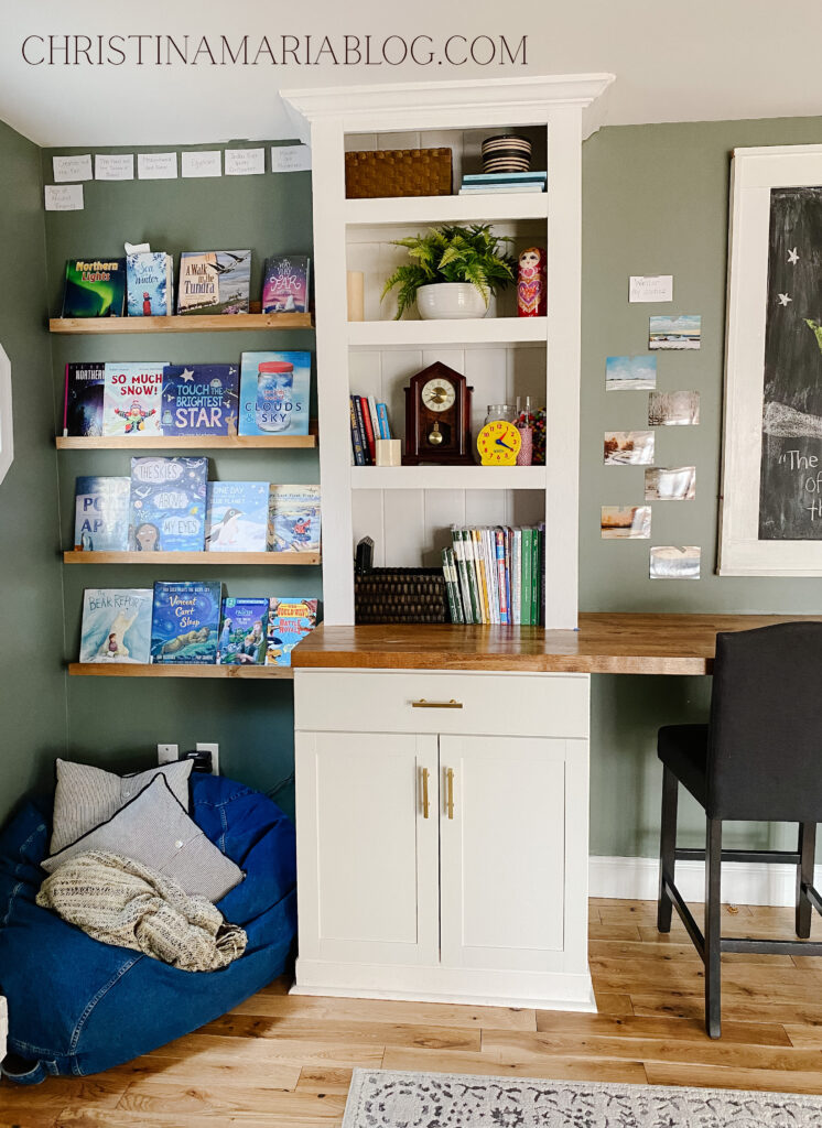 book ledges and built in bookcases with cabinets on the bottom
