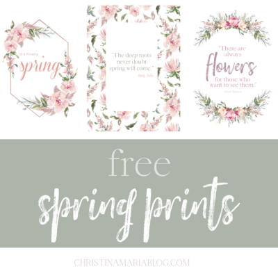 Free Easter quotes and Spring Printables