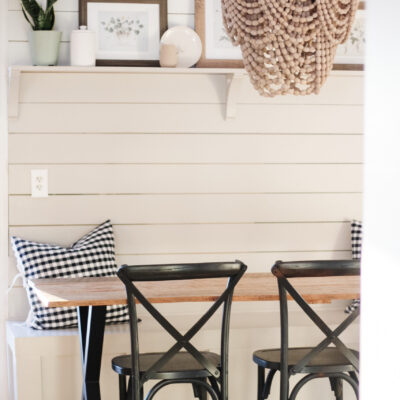 Banquette makeover : simple way to add charm and character