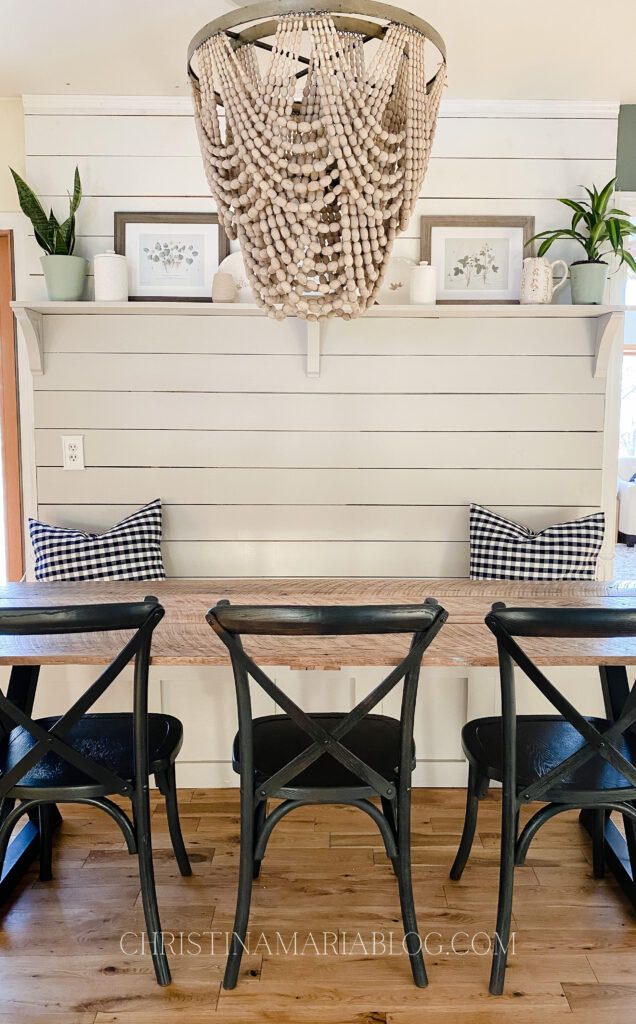 shiplap banquette with shelf