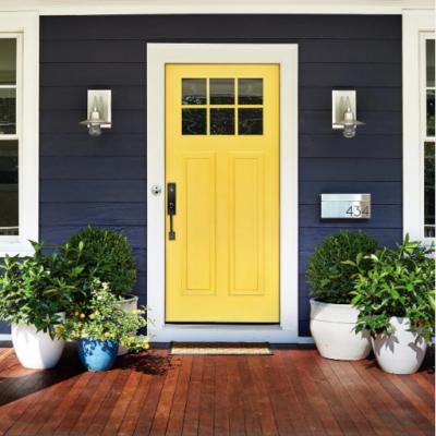 Yellow front door design ideas + inspiration