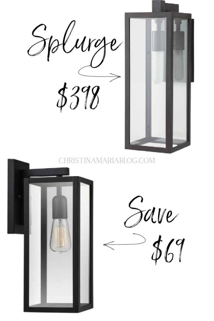 outdoor lighting splurge vs save modern light fixture