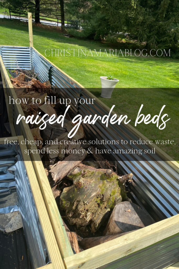 how to fill raised garden beds for cheap